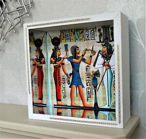 ROOM-BOX ancient Egyptian / art deco revival HANDMADE new unique 10'' X 10''
