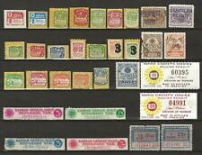 Kansas State Cigarette and Tobacco Tax Stamps 41 different