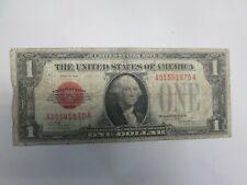 1928 US $ 1 UNITED STATES NOTE- FUNNY BACK- RED SEAL