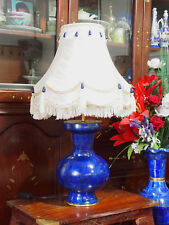 Pair very rare Lapis Lazuli Table lamp Hand Crafted Tischlampe Afghanistan (M)