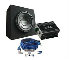 """Pioneer TS-W306R 12"""" Subwoofer in Sealed Enclosure & Boss Amplifier & Wiring Kit"""