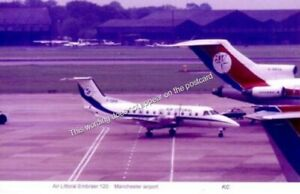 Air Littoral Embraer 120  and  Dan Air Boeing 727 airliners Manchester UK