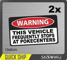 Pokemon Go Vinyl Decal JDM Car Sticker Funny Joke Sign Stops Pokecentres pg21x2
