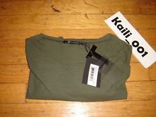 T By Alexander Wang Long Sleeve Tee Size Large Green B