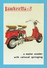 ADVERTISEMENT  -  LAMBRETTA  MOTOR  SCOOTER  -  MODEL  B