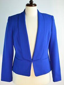 KASPER Cobalt Blue Laguna Blazer Jacket Size 8 Lined Blazer NWT