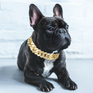 Gold Puppy Chain Necklace Pet Small Dog Necklace Collar Jewelry Neck Pet Toy