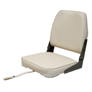 Attwood Boat Folding Fishing Seat 98395WH | White Low Back