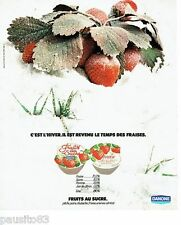 PUBLICITE ADVERTISING 116  1978  Danone fruits au sucre  fraises