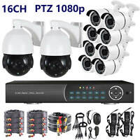 PTZ ZOOM 16 Ch Channel HD DVR Recorder 2 Megapixel 1080P Security Camera System