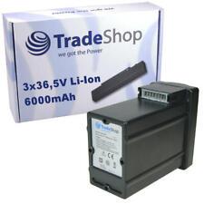 Li-Ion AKKU 6000mAh 3x36,5V für Wolf Garten 37 40 Rasenmäher ersetzt PowerPack 1
