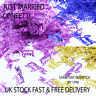 Vincenza Mr & Mrs Silver Gold Pink Confetti Wedding Table Occasion Just Married
