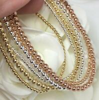 Stackable Yellow, Rose Gold & Silver Stretch Bracelets Group of Six Minimizing