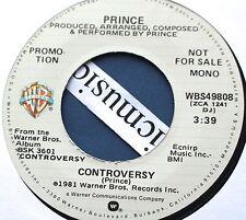 """PRINCE CONTROVERSY MONO PROMO 7"""" VINYL 1981 ORIG. N.MINT RARE"""