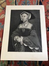 Engraving Of Jane Seymour 3rd Queen Of Henry VIII