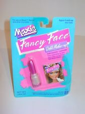 Vintage 1988 Hasbro Maxie Barbie Doll Fancy Face Make Up Lipstick on Card MOC