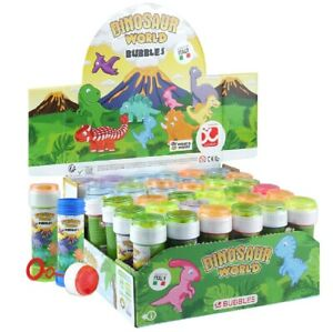 Dinosaur Blowing Bubble Tubs Childrens Party Bag Filler Toys Puzzle