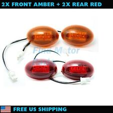 Amber Red Side Marker LED Light Dully Fender for 1999-2010 Ford Super Duty Truck