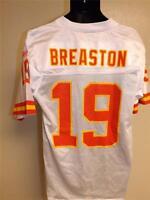 New-Flaw- Steve Breaston #19 Chiefs Mens sizes S-M Reebok White Jersey