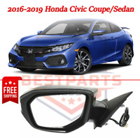 Fits 01-05 Civic Coupe Sedan Left Driver Mirror Glass Lens w// Adhesive   USA
