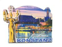 Konstanz Bodensee Holz 2D Magnet 10 cm Souvenir Germany