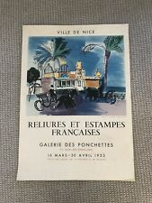 """Original 1953 Raoul Dufy French Poster """"Le Casino De La Jetée"""