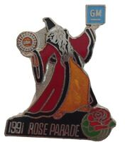 1991 ROSE PARADE GM GENERAL MOTORS UAW UNITED AUTO WORKERS WIZARD COLLECTORS PIN
