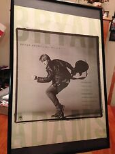 "Big 11X17 Framed Original Bryan Adams ""Cuts Like A Knife"" Lp Album Cd Promo Ad"