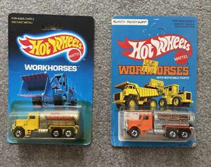 Lot of 2 Hot Wheels 1988 Workhorses Peterbilt Shell Tank Trucks   NIB