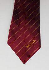 Monk vintage corporate tie logo company work uniform Triad silk polyester mix