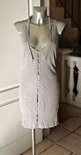 joli gilet cardigan long en laine perle COTÉLAC taille 4 (42)  EXCELLENT ÉTAT