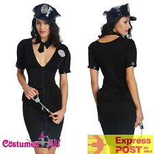 Ladies Police Woman Women Costume Policewoman Cop Officer Uniform Fancy Dress
