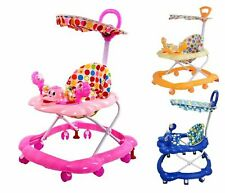 Push & Ride Baby Walker Musical Toy First Steps Bouncer Activity Melody On - UK