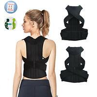 Men Women Posture Corrector Shoulder Upper Back Support Brace  Belt Adjustable