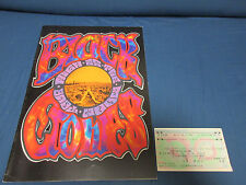 Black Crowes 1992 World Tour Book w Japanese Ticket Stub Concert Program