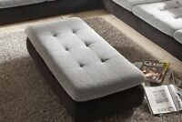 Loungesofa Wohnlandschaft Sofa Couch Ecksofa Eckcouch Hocker Bank Spike Megapol