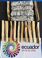 12 Palo Santo Wood & 4 White Sage Smudge Sticks: Cleansing Negativity Removal