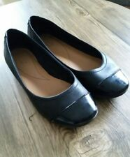 girls womens black shoes ballet pumps 5 1/2