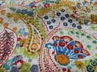 Kantha Quilt 100 Cotton King Size Indian Quilt Handmade Bedspread Bed Cover