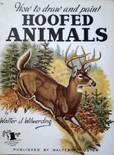 Draw & Paint Hoofed Animals ~ VINTAGE WALTER FOSTER ART HOW TO BOOK