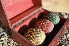 Game Of Thrones Mini Dragon Eggs Replica with wooden box holder