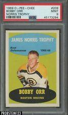 1969 O-Pee-Chee OPC Hockey #209 Bobby Orr Norris Trophy HOF PSA 9 MINT