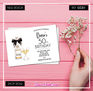 40th 50th 60th Birthday Invitations • Personalised Party Invites •18th 21st 30th