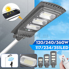 120/240/360W Remote Solar LED Street Light Motion Sensor Outdoor Flood Lamp