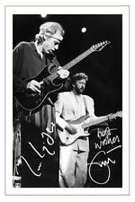 MARK KNOPFLER & ERIC CLAPTON SIGNED PHOTO PRINT AUTOGRAPH