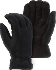 *WARM WINTER GLOVES! Black-THERMAL Insulation-Deerskin Suede-WINDPROOF-Men Large