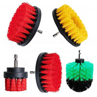 5pcs/set Car Cleaning Drill Brush Spin Scrubber Electric Drill Washer Accessory