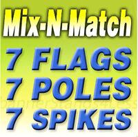 two VENTA DE LLANTAS 15 Swooper #8 Feather Flags KIT 2