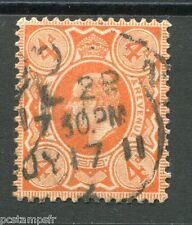 GRANDE BRETAGNE, 1909-10, timbre 122, EDOUARD VII, oblitéré