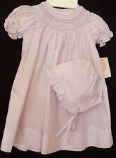 Petit Ami  6508  Lavender Smocked Dress, Bonnet, Girl's Newborn ...